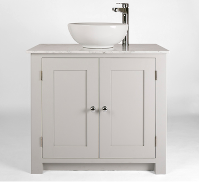 Bathroom Vanity Cabinet With White Carrara Marble Top U0026 Bowl Sink