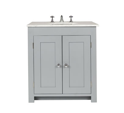 Bathroom vanity cabinet with undermount sink - Freestanding solid ...